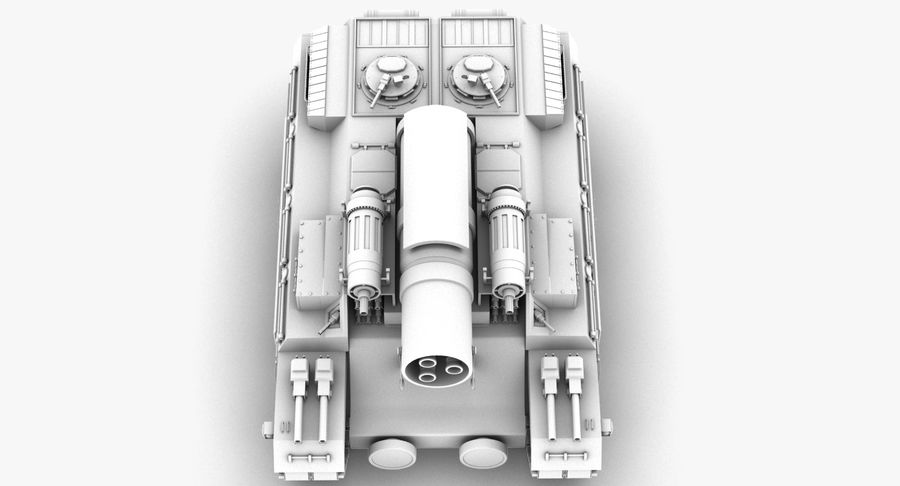 Koncepcja czołgu royalty-free 3d model - Preview no. 8