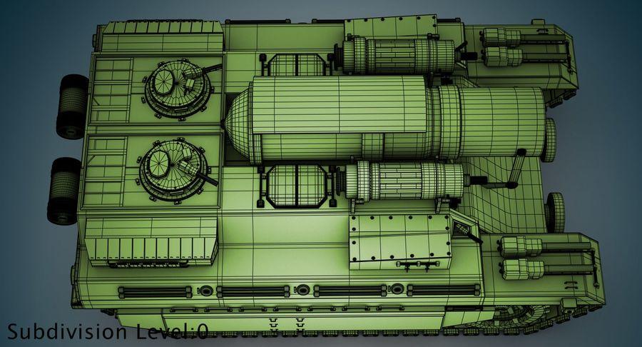 Koncepcja czołgu royalty-free 3d model - Preview no. 17