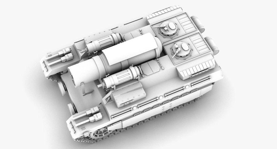 Koncepcja czołgu royalty-free 3d model - Preview no. 7