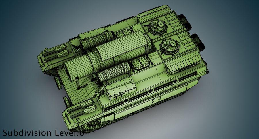 Koncepcja czołgu royalty-free 3d model - Preview no. 20