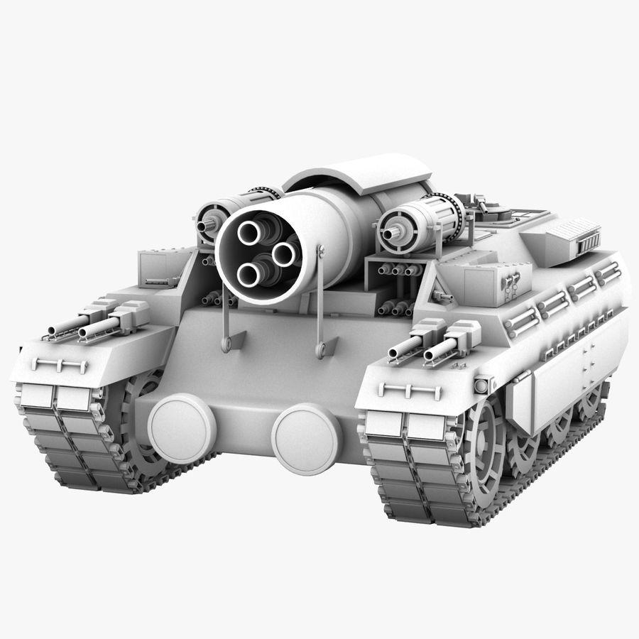 Koncepcja czołgu royalty-free 3d model - Preview no. 1