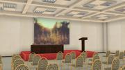 Une grande salle pour les réunions publiques (HALL) 3d model