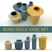 Photorealistic 3d model of modern vase design set Bosa Isole (High Poly, Vray and Corona render) 3d model