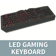 LED-Gaming-Tastatur - Rot 3d model