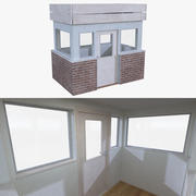 Bekçi evi bir iç dolu 3d model