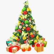 Weihnachtsbaum und Geschenke plus 3d model