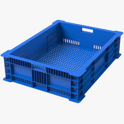 Plastic Fish Crate 3d model
