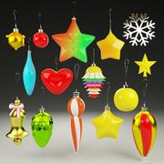 Рождественские шары установлены 3d model