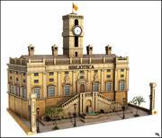 Gebäude der öffentlichen Bibliothek 3d model