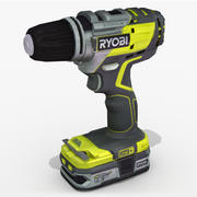 Wiertarka bezszczotkowa RYOBI 3d model