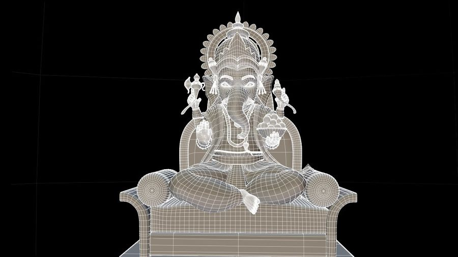 IndianGod Ganesh royalty-free 3d model - Preview no. 4