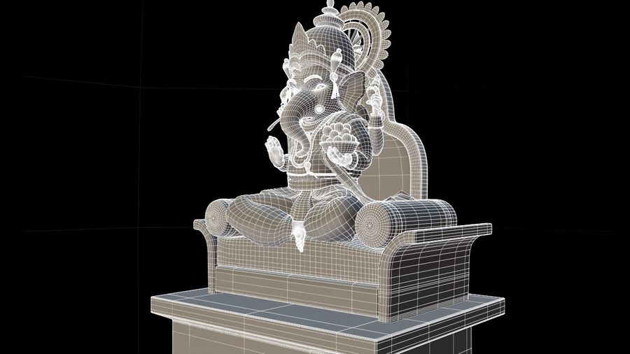 IndianGod Ganesh royalty-free 3d model - Preview no. 3