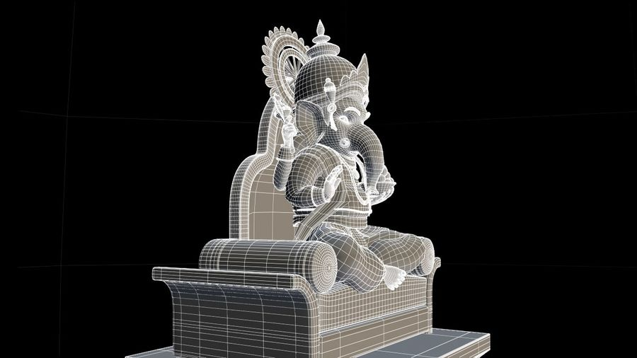 IndianGod Ganesh royalty-free 3d model - Preview no. 5
