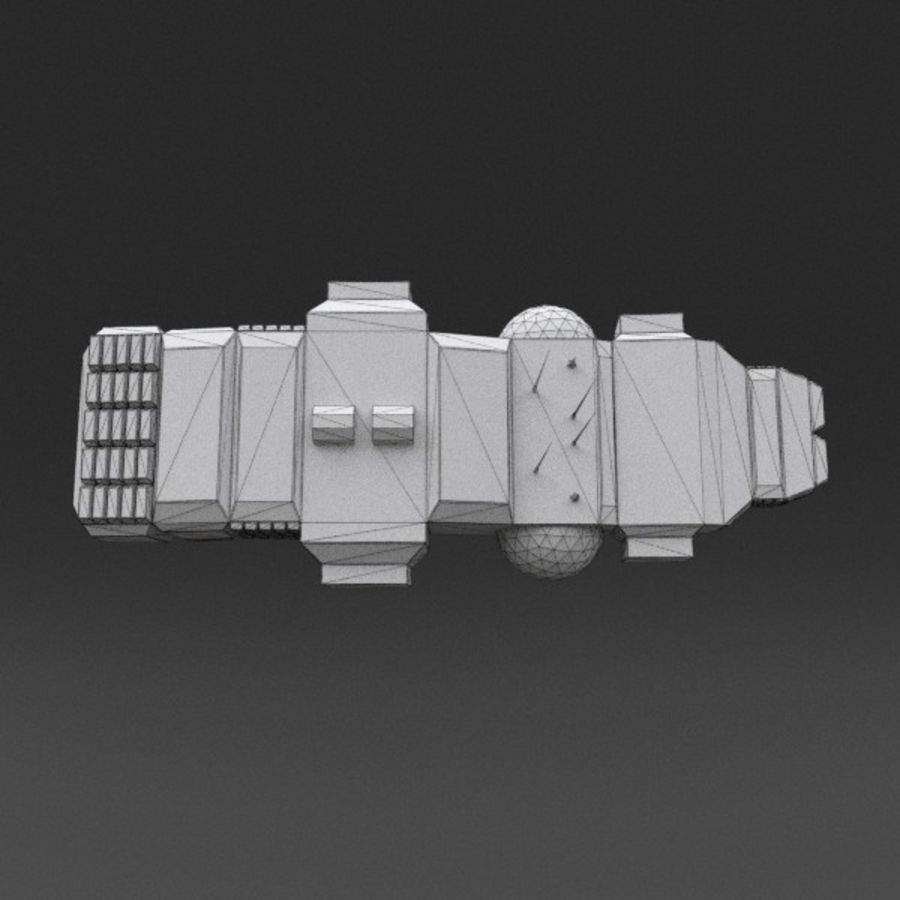 Spaceship 12 royalty-free 3d model - Preview no. 20