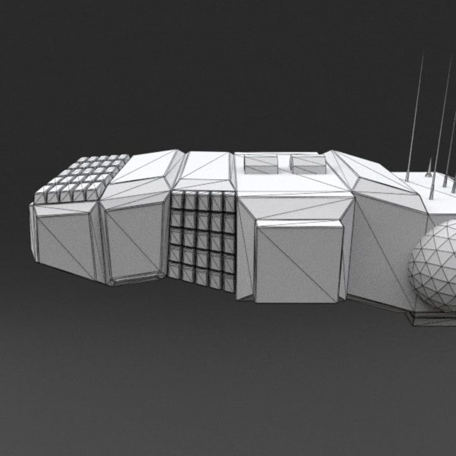Spaceship 12 royalty-free 3d model - Preview no. 16