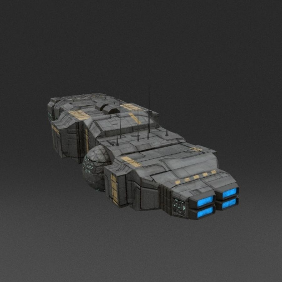 Spaceship 12 royalty-free 3d model - Preview no. 5