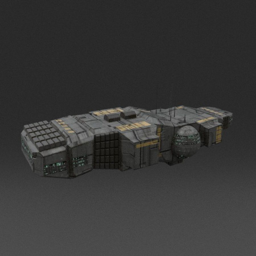Spaceship 12 royalty-free 3d model - Preview no. 2