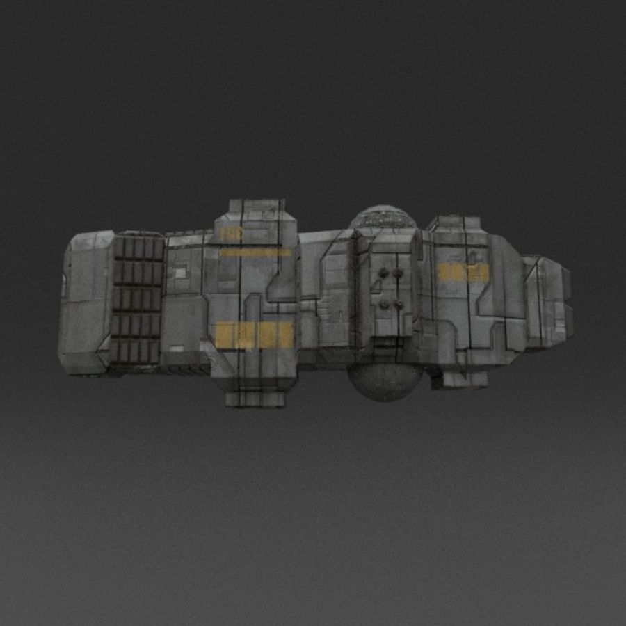 Spaceship 12 royalty-free 3d model - Preview no. 11