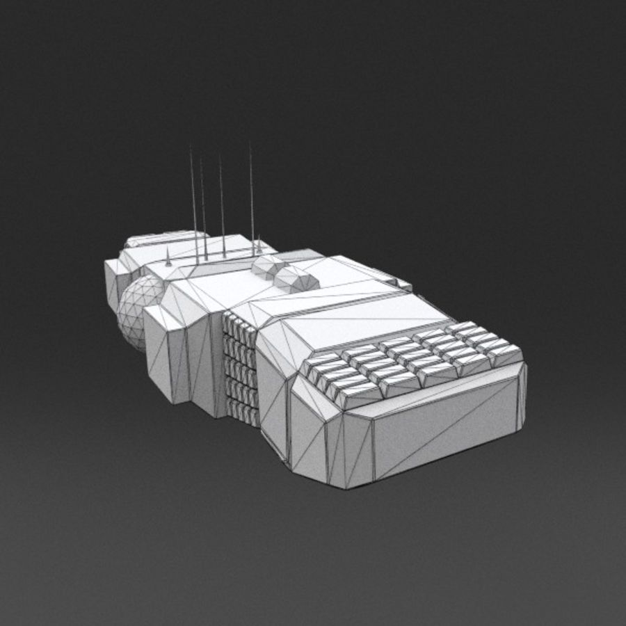 Spaceship 12 royalty-free 3d model - Preview no. 13