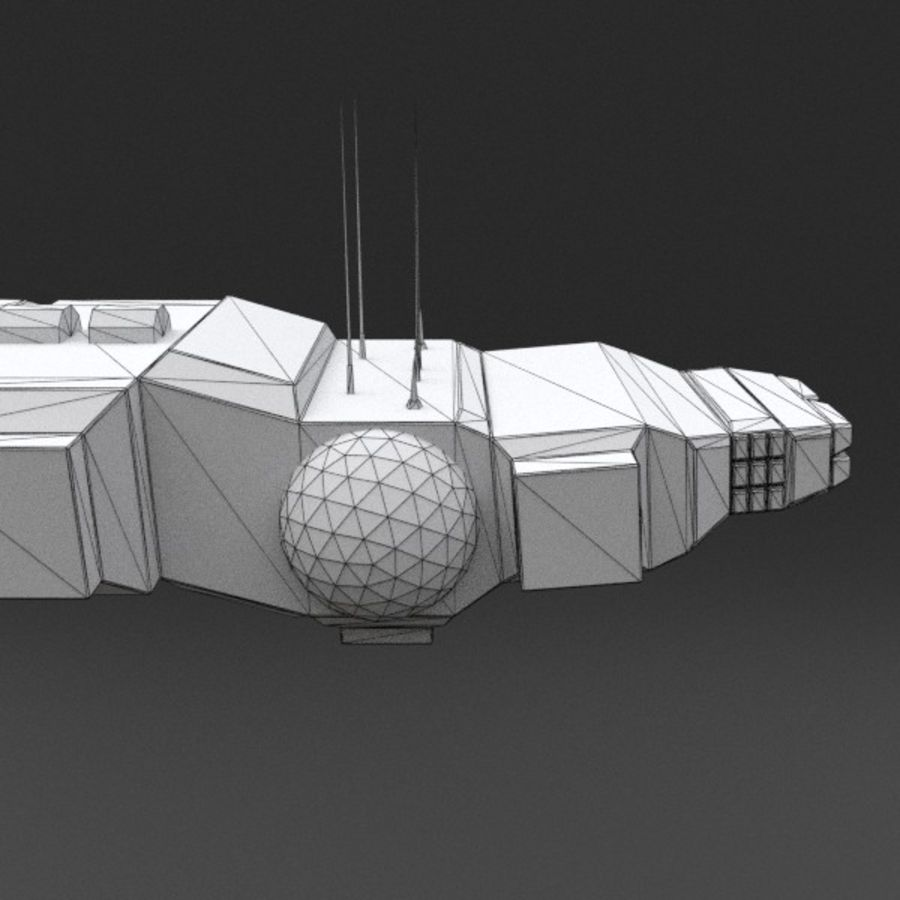 Spaceship 12 royalty-free 3d model - Preview no. 17