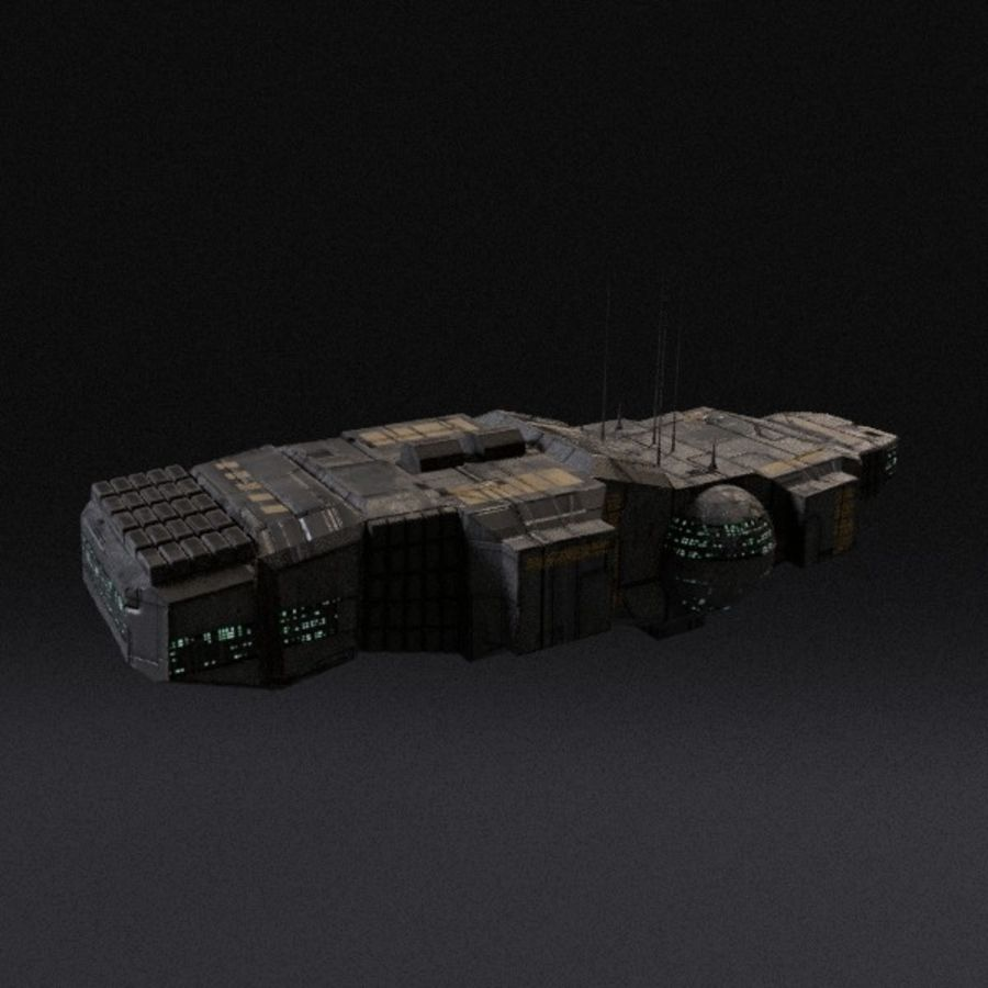Spaceship 12 royalty-free 3d model - Preview no. 1