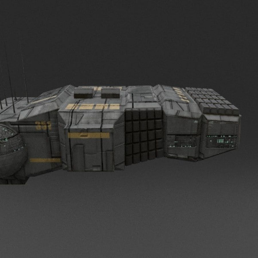 Spaceship 12 royalty-free 3d model - Preview no. 8