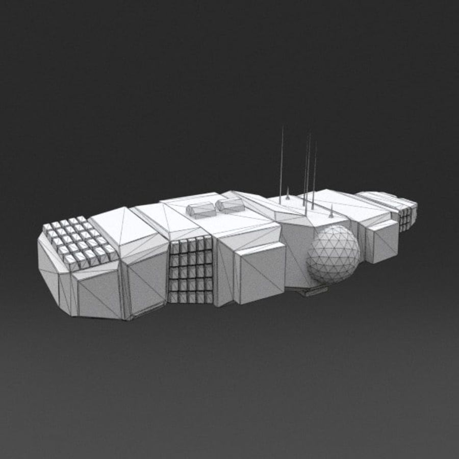 Spaceship 12 royalty-free 3d model - Preview no. 12