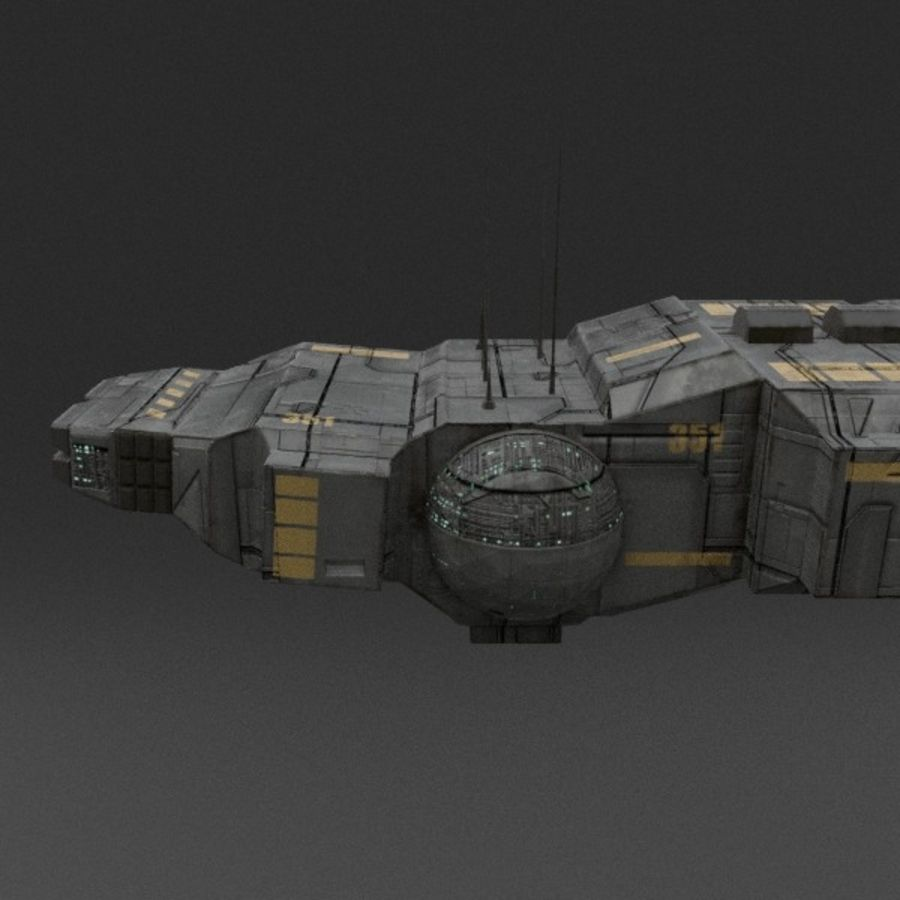 Spaceship 12 royalty-free 3d model - Preview no. 9