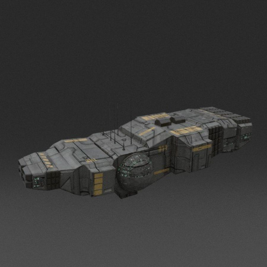Spaceship 12 royalty-free 3d model - Preview no. 4