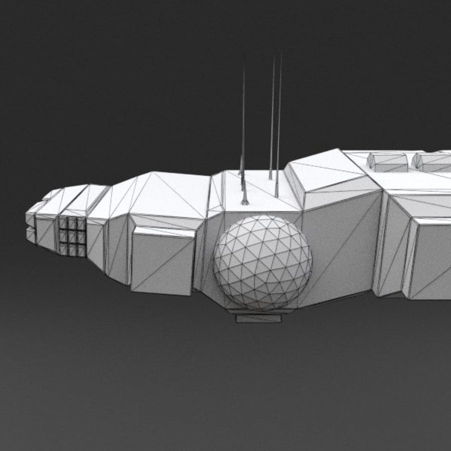 Spaceship 12 royalty-free 3d model - Preview no. 19