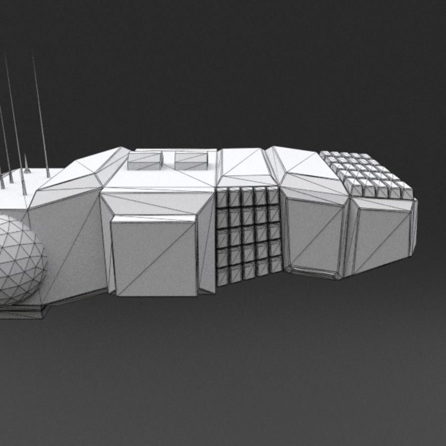 Spaceship 12 royalty-free 3d model - Preview no. 18