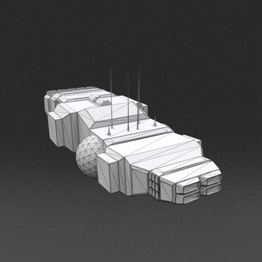 Spaceship 12 royalty-free 3d model - Preview no. 15