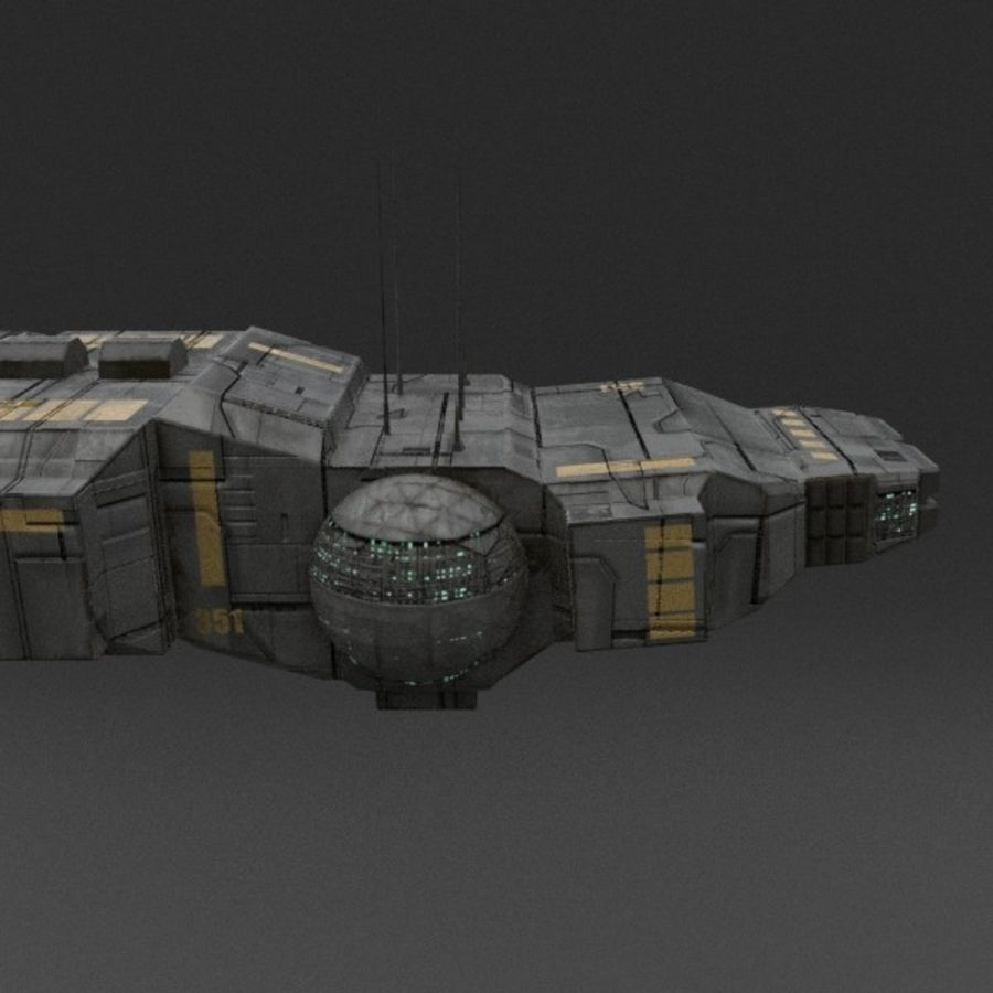 Spaceship 12 royalty-free 3d model - Preview no. 7
