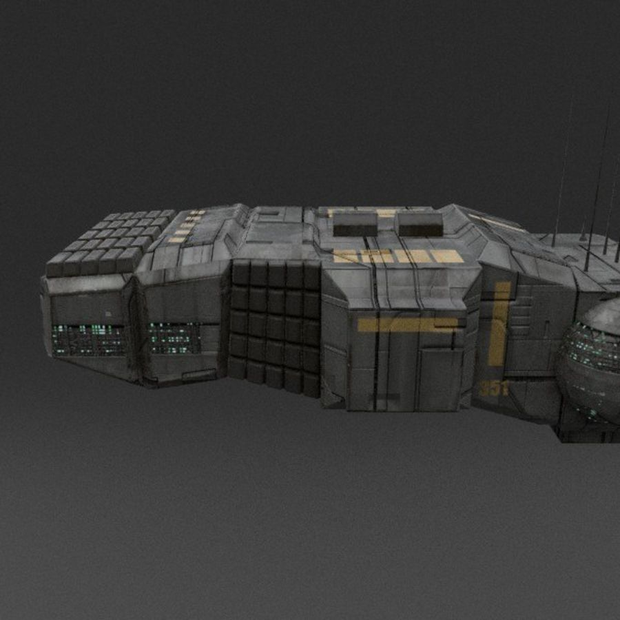 Spaceship 12 royalty-free 3d model - Preview no. 6