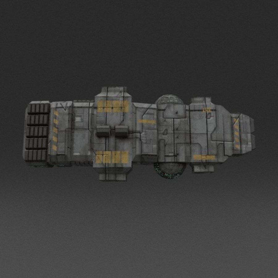 Spaceship 12 royalty-free 3d model - Preview no. 10