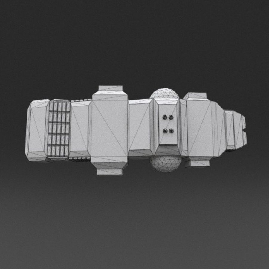 Spaceship 12 royalty-free 3d model - Preview no. 21