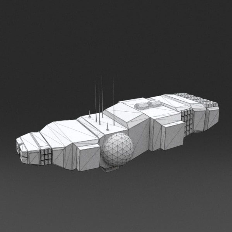 Spaceship 12 royalty-free 3d model - Preview no. 14