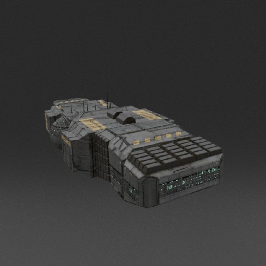 Spaceship 12 royalty-free 3d model - Preview no. 3