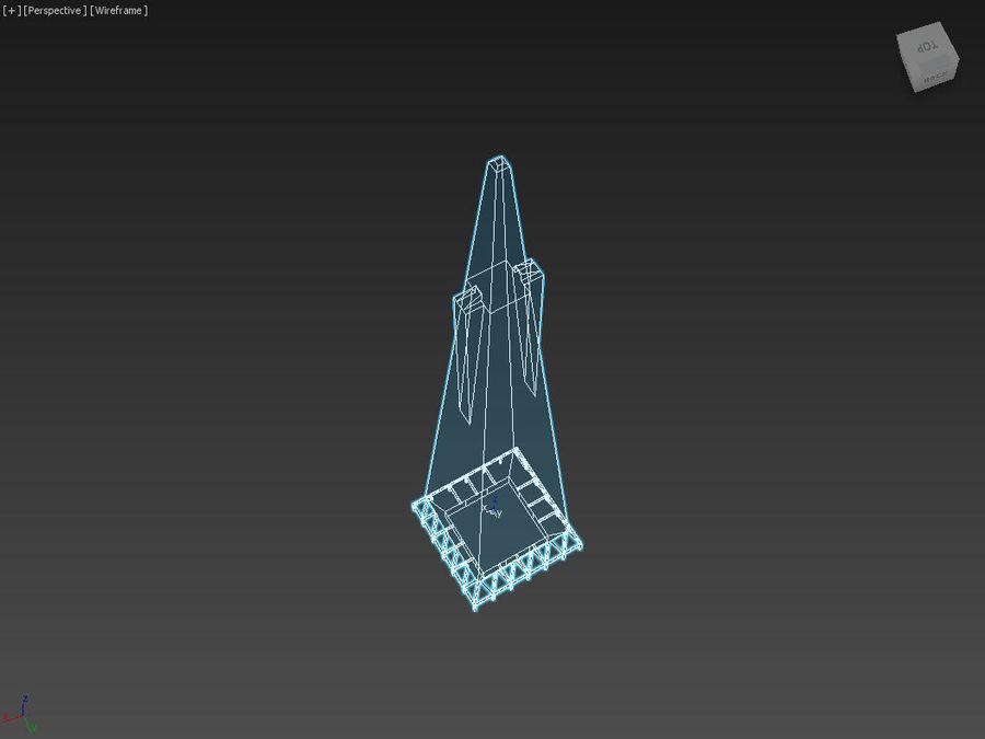 A pirâmide Transamerica de baixo poli royalty-free 3d model - Preview no. 8