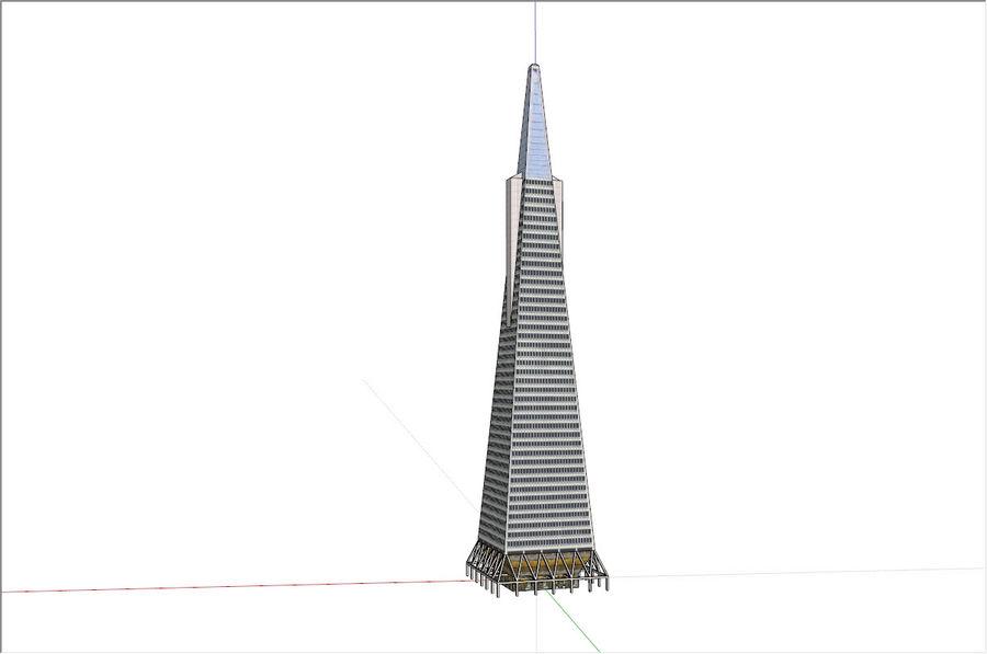 A pirâmide Transamerica de baixo poli royalty-free 3d model - Preview no. 2