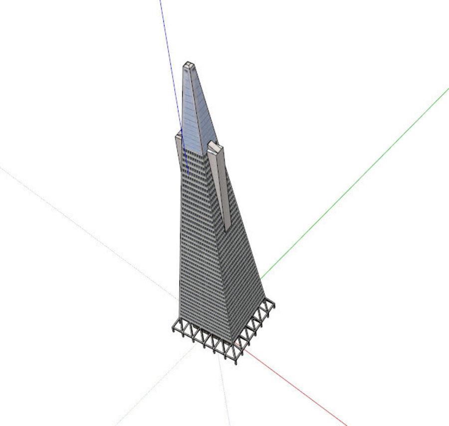 A pirâmide Transamerica de baixo poli royalty-free 3d model - Preview no. 5
