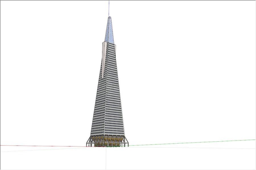 A pirâmide Transamerica de baixo poli royalty-free 3d model - Preview no. 6