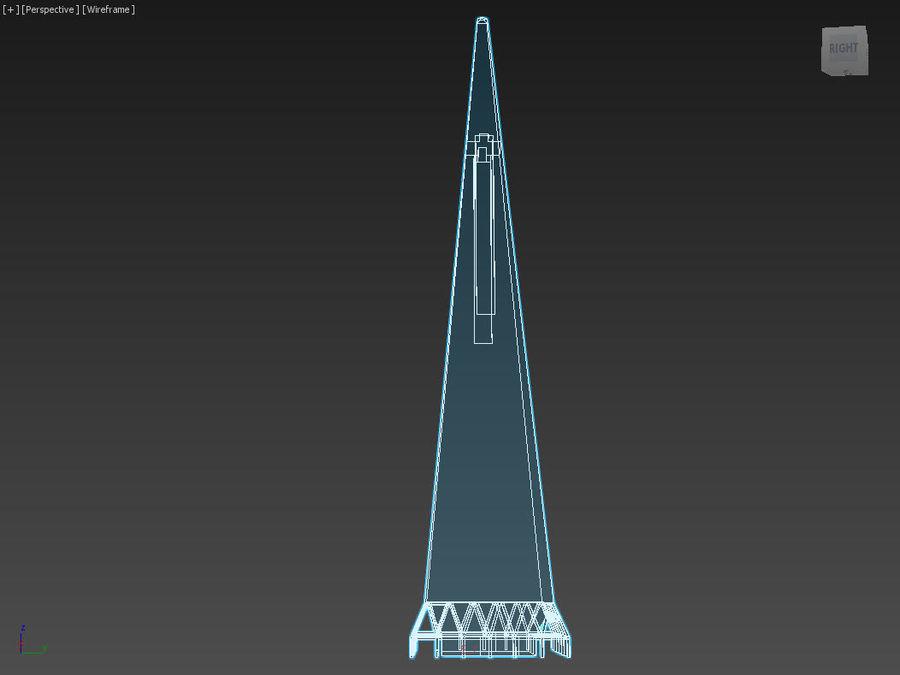 A pirâmide Transamerica de baixo poli royalty-free 3d model - Preview no. 7