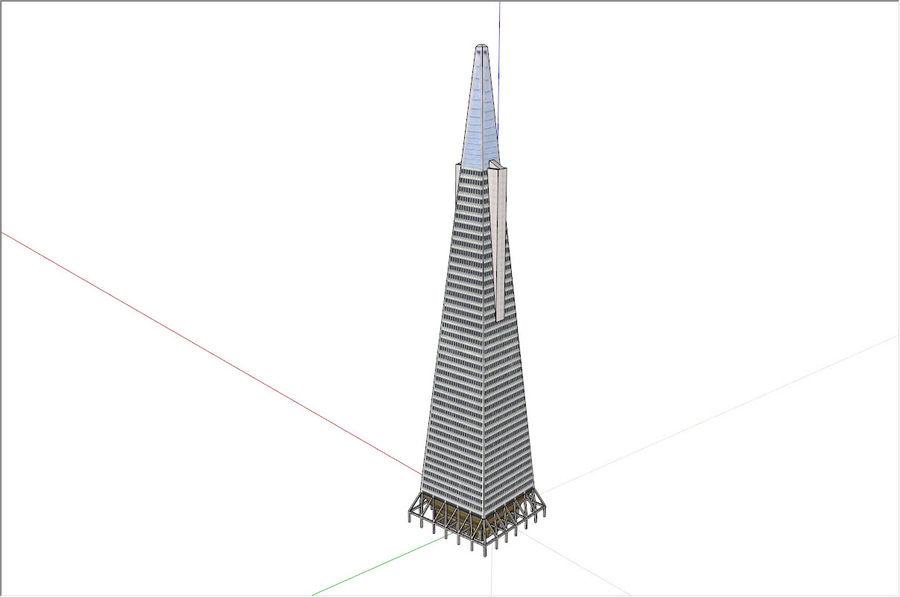 A pirâmide Transamerica de baixo poli royalty-free 3d model - Preview no. 3