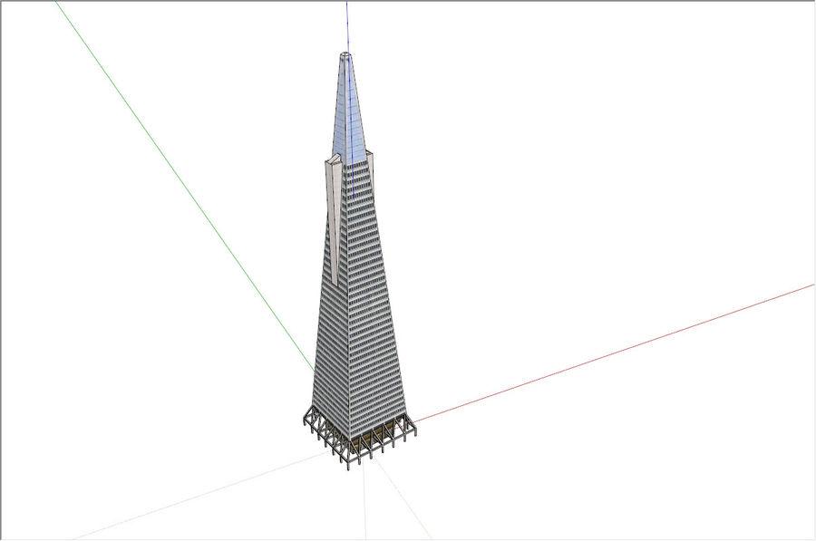 A pirâmide Transamerica de baixo poli royalty-free 3d model - Preview no. 4
