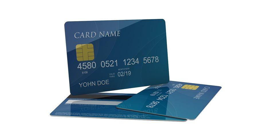 Kredietkaart royalty-free 3d model - Preview no. 3