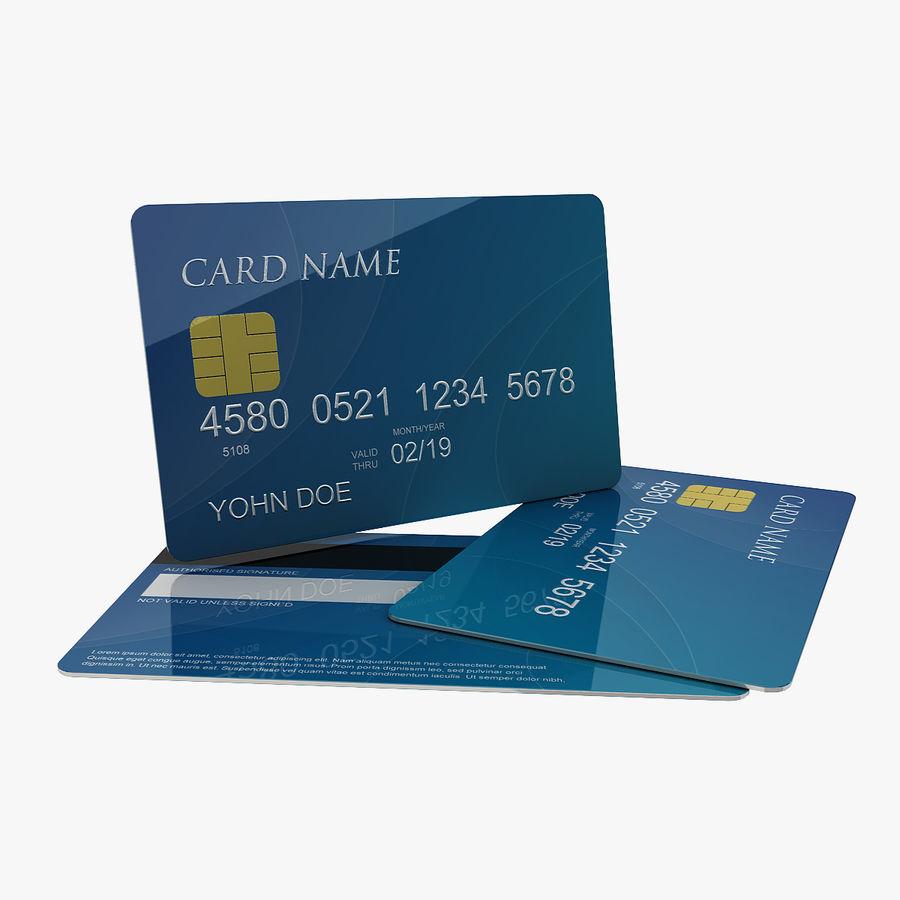 Kredietkaart royalty-free 3d model - Preview no. 1