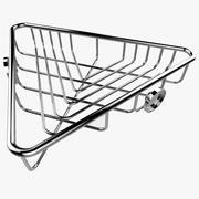 Półka narożna 3d model