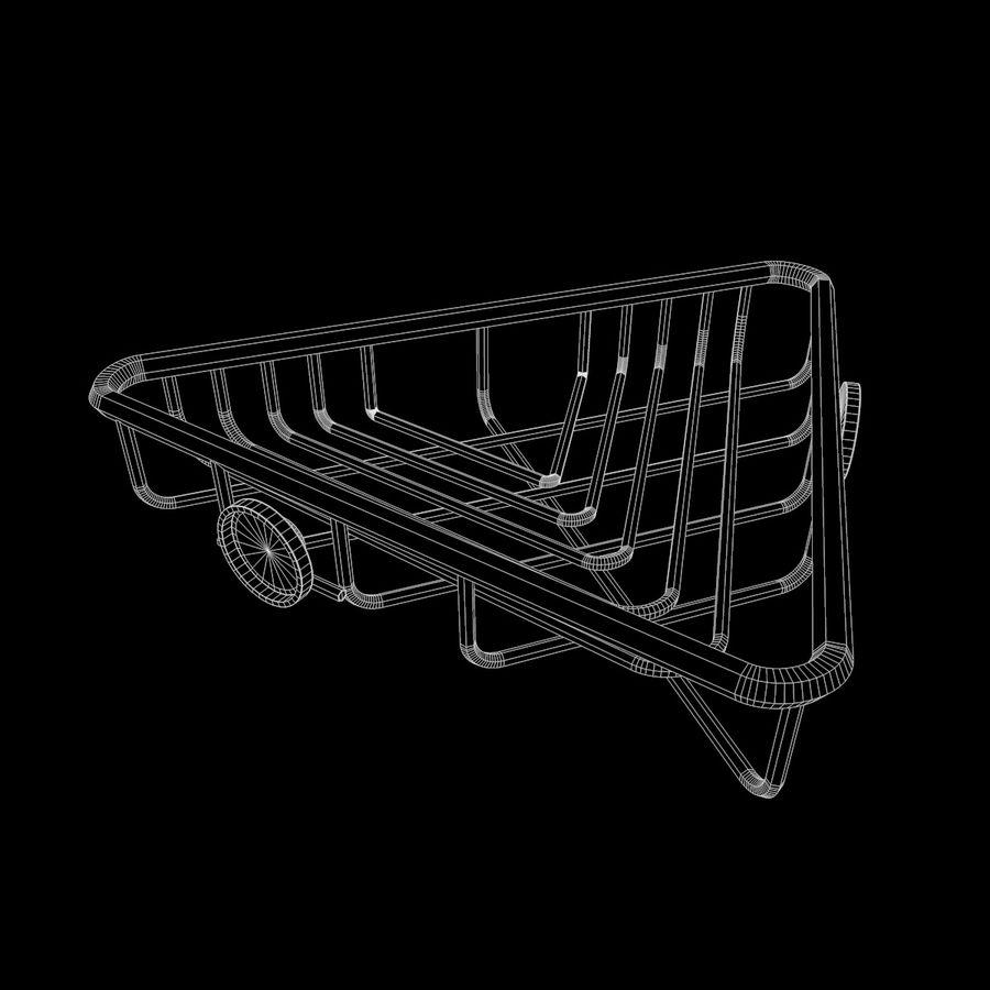 Półka narożna royalty-free 3d model - Preview no. 11