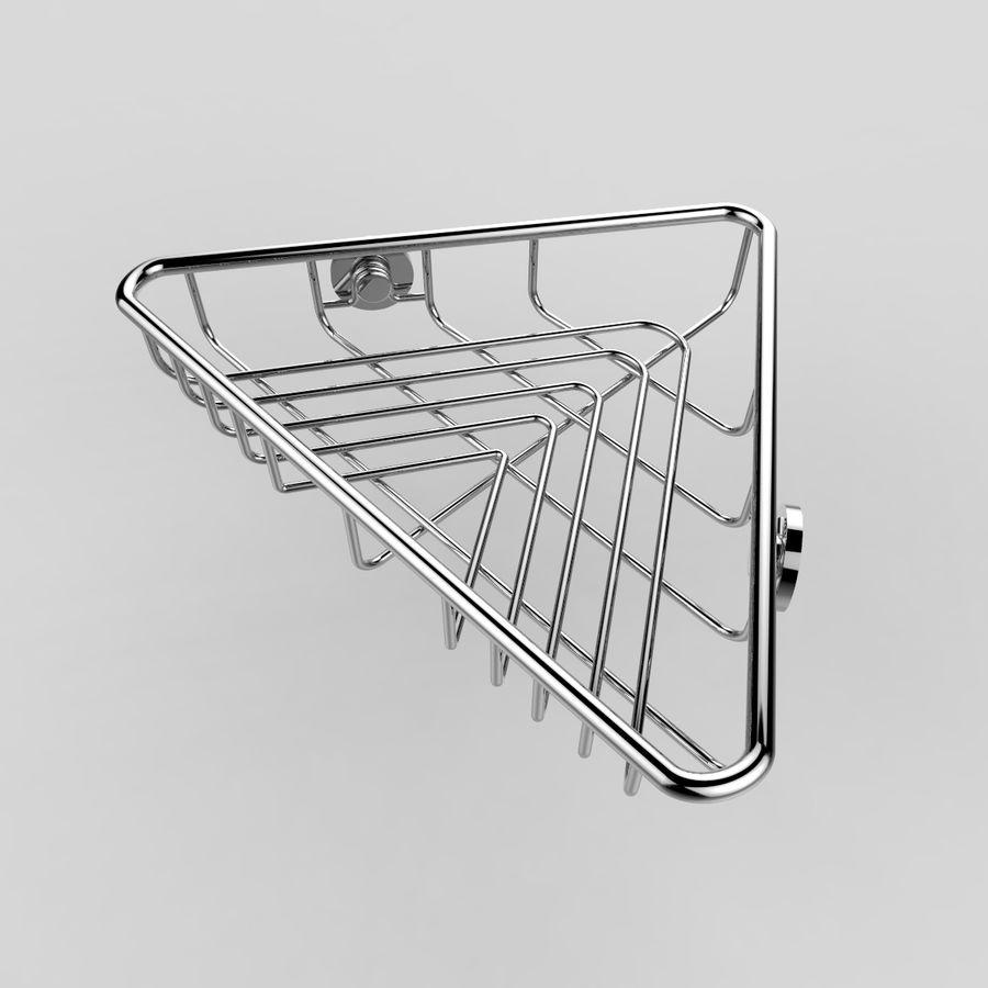 Półka narożna royalty-free 3d model - Preview no. 3